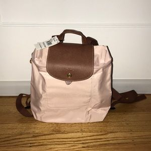 New Longchamp Le Pliage Pink Ice Backpack
